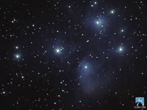 M - 45 The Pleiades Open Cluster and Nebulosity