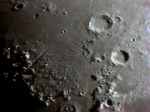 Moon and Craters - Alpine Ridge
